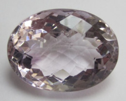 DELIGHTFUL, CHECKERBOARD TABLE, 41.20CT PINKY MAUVE AMETHYST