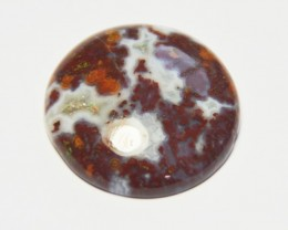 NEW ARRIVAL 25mm AAA Red Lace Plume Agate cabochon.