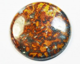 NEW ARRIVAL 35mm AAA Mexican GOLD LEAF Agate cabochon 60.5ct