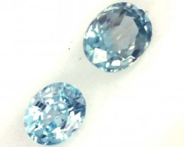 BLUE ZIRCON FACETED STONE (2PCS) 1.40  CTS  PG-1080