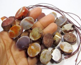 610 CTS   NATURAL SHAPE STAND AGATE BEADS  AGR 357