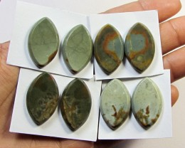 85 CTS PARCEL 4 PAIRS SHIVA LINGHAM STONE     RT 2695