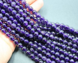 540CTS - 3 STRAND AMETHYST 8 MM BEADS 15.5 INCHES + CLASP