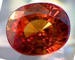1.43 ct CERT Redish Orange Oval Cut Spessartite Garnet- A530