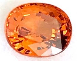 1.43 ct Bright Orange Oval Cut Spessartite Garnet- A530 F13