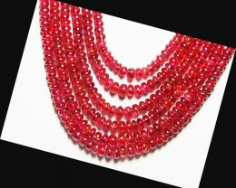 "16"" AAA pink red SPINEL beads 2.25 - 4.5 mm spbr003"