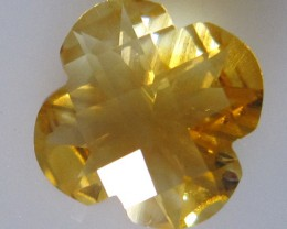 Citrine Checker Board Flower Cut 3.42cts