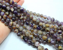 420 CTS-1 STRAND AMETHYST ROUND 12 MM ROUND 16 INCH + CLASP