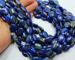 245 CTS 1 STRAND LAPIS OVAL 18 X 13 MM 15 INCH + CLASP