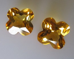 Matching Pear Citrine Flower Cut 5.56cts