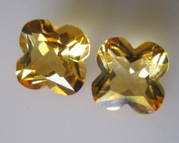 Matching Pear Citrine Flower Cut 5.29cts