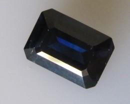 Australian Emerald Cut Blue Sapphire 1.63cts
