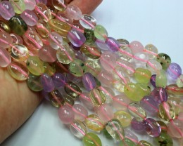 295CTS-1 STRAND QUARTZ NUGGET BEADS 12X10MM 16 INCH + CLASP
