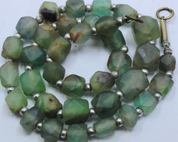 275CTS-1 STRAND FLUORITE BEADS 16 INCH + CLASP