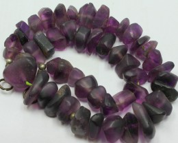 570CTS-1 STRAND FLUORITE BEADS 15 INCH + CLASP