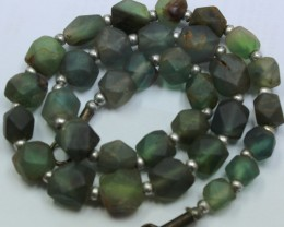 335CTS-1 STRAND FLUORITE BEADS 16 INCH + CLASP