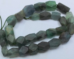 495CTS-1 STRAND FLUORITE BEADS 15 INCH + CLASP