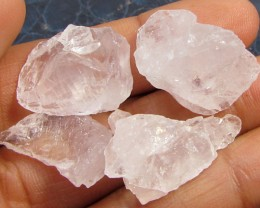 13CTS PINK QUARTZ ROUGH LOVE STONE!  TW 1200