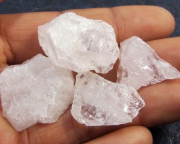 18.2CTS PINK QUARTZ ROUGH LOVE STONE!  TW 1202