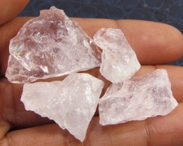 13CTS PINK QUARTZ ROUGH LOVE STONE!  TW 1212