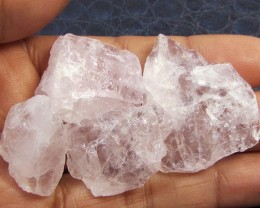 25.2CTS PINK QUARTZ ROUGH LOVE STONE!  TW 1222