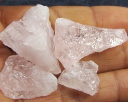 14.7 CTS PINK QUARTZ ROUGH LOVE STONE!  TW 1223