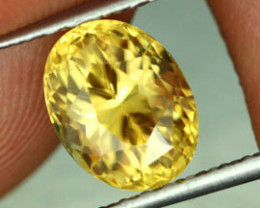 2.84 CTS CERTIFIED CANARY YELLOW ZIRCON - RARE COLOUR [ZCY9]