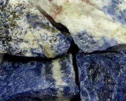 SODALITE ROUGH 4 PIECES TW 1288