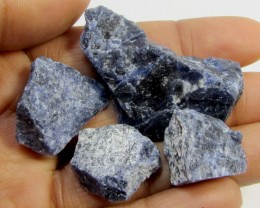 SODALITE ROUGH 4 PIECES TW 1291