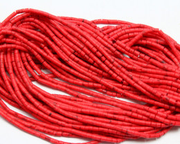 8.70 CTS - 1 STRAND RED CORAL BEADS VERY FINE INTRICATE