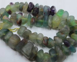 745CTS-1 STRAND FLUORITE 16 X 15 X 9MM BEADS 16 INCH + CLASP