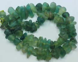 750CTS-1 STRAND FLUORITE 23 X 16 X 6MM BEADS 20 INCH + CLASP