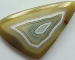 76.30 CTS TWO TONE AGATE CABOCHON STONE TOP PATTERN