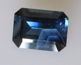 1.71cts Australian Emerald Cut Blue Sapphire