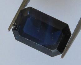 2.21cts Australian Emerald Cut Blue Sapphire