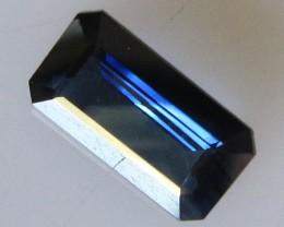 Australian Emerald Cut Blue Sapphire, 1.65cts