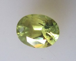 Australian Oval Cut Yellow Parti Colour Sapphire, 1.06cts