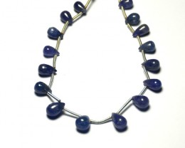 NEW ITEM   TANZANITE drops 7 by 5 to 8 by 6mm 16 drops 29ct tzb01