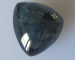 Australian Blue Sapphire Trillion Cabochon, 4.60cts
