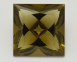 NEW  IDAR OBERSTEIN Bijoux cut  OLIVE QUARTZ 7.45ct