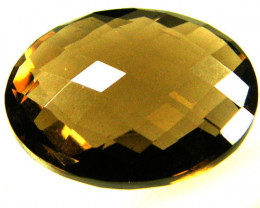 VS CHECKERBOARD  CUT SMOKY QUARTZ  10.10 CTS [S688 ]