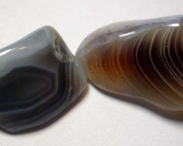STRIPED BOTSWANA AGATE  55.3 CTS   [MGW854 ]