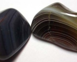 STRIPED BOTSWANA AGATE  43 CTS   [MGW858 ]