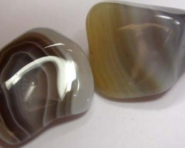 STRIPED BOTSWANA AGATE  44 CTS   [MGW881 ]