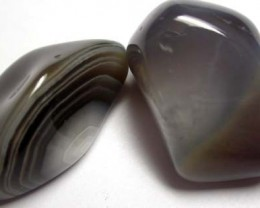STRIPED BOTSWANA AGATE  53 CTS   [MGW908 ]