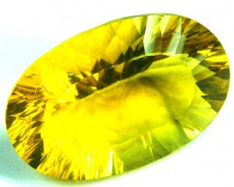 FLOURITE  GOLDEN YELLOW   CUT  23.3 CTS   AAA 1214