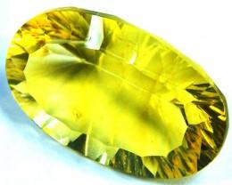FLOURITE  GOLDEN YELLOW   CUT  23.5  CTS   AAA 1217