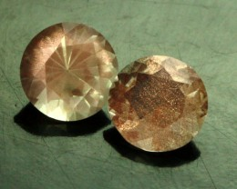 1.43 CTS CERTIFIED OREGON SUNSTONE PAIR [LBO40]