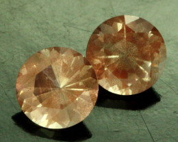 1.33 CTS CERTIFIED OREGON SUNSTONE PAIR [LBO41]