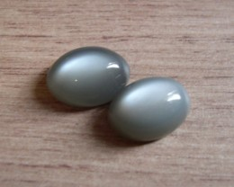 VERY NICE PAIR OF NATURAL MOONSTONES 13,82 CTS
